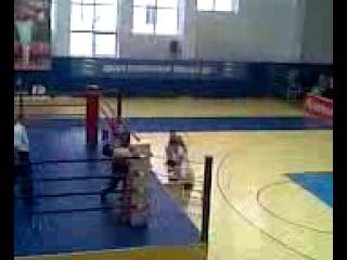Накаут на последних секундах бой Альберта Гогичаева