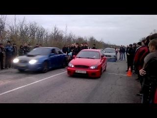 Daewoo Lanos vs Subaru wrx sti