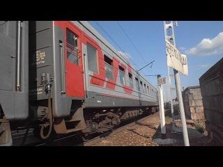 ЭП1-343 с пассажирским поездом следует на станцию Новороссийск, проследует перегон Гайдук-Новороссийск, о. п.