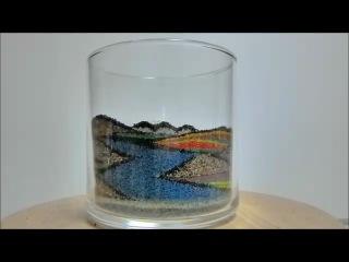 Песочные картины в стакане