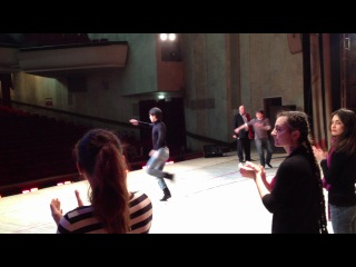 Репетиция на сцене София Ника