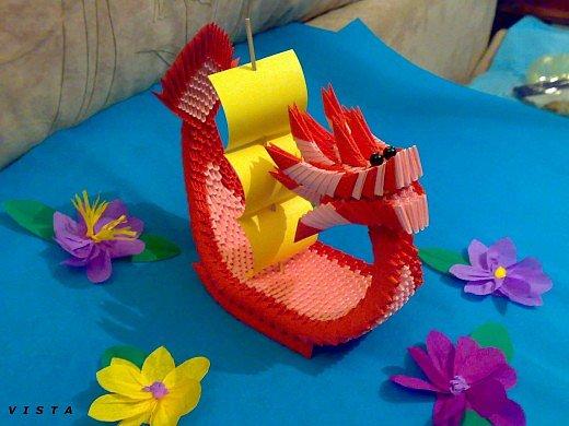 Схема сборки лодки-дракона ✂