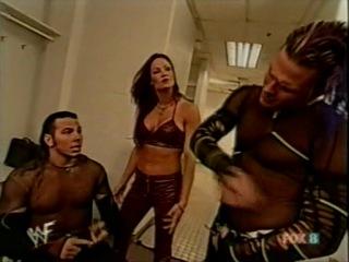 Hardy Boyz,Lita Eddie Guerrero backstage(WWF SmackDown 17.05.2001)