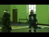 13-11-2011 Вне зачёта гость из Кирилова- Калинин (первый бой в доспехе у гостя)