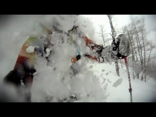 Canyons deep powder skiing P.O.V.