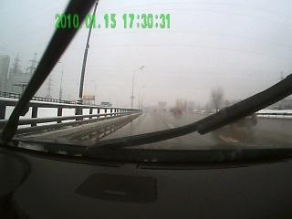 Опасности дорог. МКАД. От Волоколамки по внутреннему. 1 января