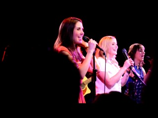 Alison Brie and The Girls singing in New York on 4-7-12