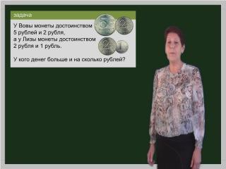 Математика 1 класс. Урок 60. Подготовка к решению составных задач. Решение текстовой задачи.