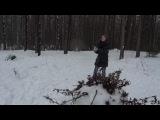 Прогулка по зимнему лесу в Охта парке.
