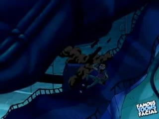 Teen Titans Robin Fuck Raven - Famous Toons Facial