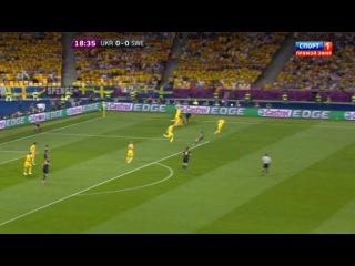 Чемпионат Европы 2012 Матч #8/ Группа D / 1-й тур / Украина - Швеция / Спорт 1 (1 тайм)