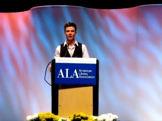 Question to Chris Colfer during the Q&A at ALA Annuel Conference 2012
