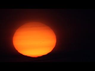 Восход Солнца с 1000мм объектива