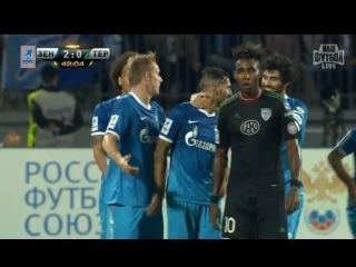 Чемпионат России по футболу 8 тур Зенит - Терек 2:0 ( Гол Данни )