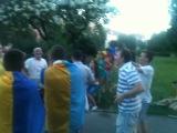Фан група ( сборной Ураины по футболу ) с Мукачева !!! Перед игрой Ураина против Англии