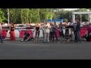 Молитва на территории фан-зоны донецкого стадиона «Шахтер» 14 июня