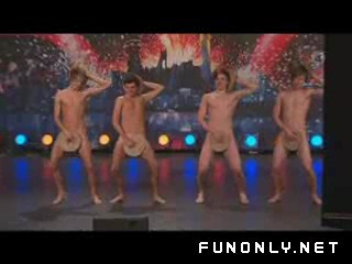 Naked boy dancers in got talent show