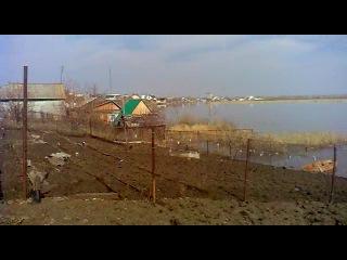 Давлеканово, вид на наводнение (15 апреля 2012 г.)
