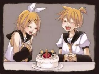 С днем рождения, Рин и Лен! (Happy birthday, Rin and Len!)