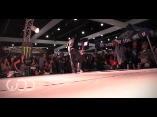 World of Dance LA 2012 Allstyles Battle: Laurent (Les Twins) vs Outrage