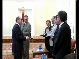 Президент Армении Роберт Кочарян наградил армянских шахматистов 6 июня 2006 года