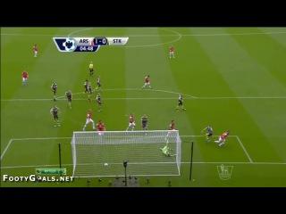 Арсенал 1 0 Сток Сити гол Аарон Рэмзи