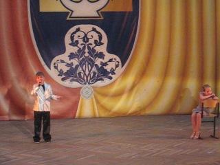 Аня и Лёша с песней Белый лист март 2012