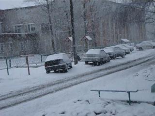 Снова зима пришла утром...4 апреля 2012