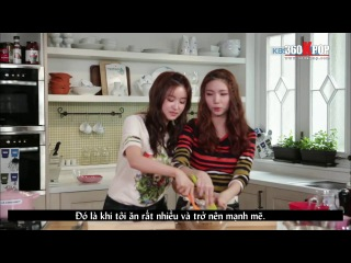 [Vietsub] Let's cook -Yulan- with Eyoung Kaeun {Playgirlz Team}