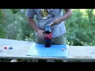 Кока-кола, ментос и презерватив!!! -)