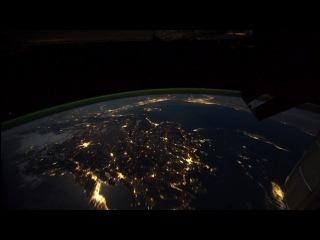 Ночной полет над Землей с борта МКС
