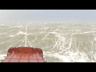 Stormy weather in the North Sea