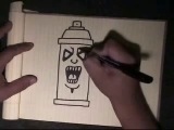 Easy Step by step - how to draw a simple spraycan character-with my voice instructions by WIZARD.mp4