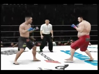 UFC Undisputed 3- Roy Nelson Beastin'. Full PRIDE fight Gameplay