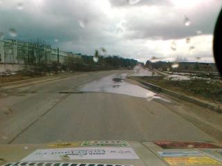 Дорога на заправку на Луазике