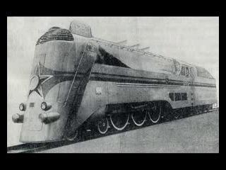 сапсан?какой сапсан - несмешите этот паровоз тормозил тяжелый вагон с углем)))скорость былабы больше) век назад. Локомотивы Сталинской эпохи- паровоз серии ИС(Иосиф Сталин),конструктивная скорость 180 км. в час