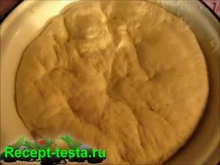 Видео рецепт теста для пиццы