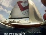 Невероятный разворот на яхте....
