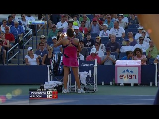 US Open 2012 / 1-й круг. Ольга Пучкова (Россия) – Ирина Фалькони (США) / / НТВ