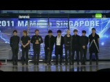 111129 MAMA 2011- Super Junior won Singapore's Choice Award
