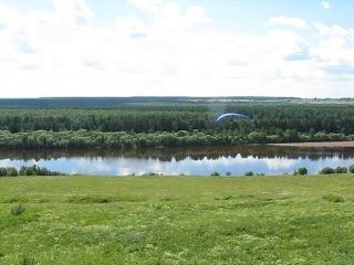 мой первый полёт,берег реки Сысола в Вотче