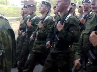 2-я рота морской пехоты Севастополя поёт песню Н. Емелина