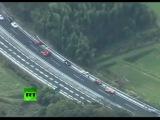 Ferrari Graveyard: Video of 14 supercar pile-up in Japan