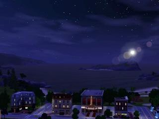 Sims 3,ночной  Сансет Велли