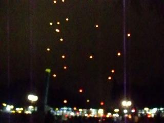 Новогодний запуск фонариков в Полтаве