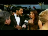 Aishwarya Rai and Abhishek Bachchan at the OSCAR 2011