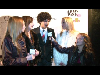 Allisyn Ashley Arm, Jordan Fisher and Audrey Whitby Interview at Amber Lily's Music Video