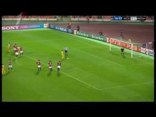 БАТЭ - Милан 1:1, Гол Брессана с пенальти (01.11.2011)