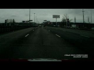Прокатился на славу утром) Киевское шоссе. Renault Clio Sport.