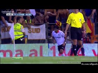 Чемпионат Испании. Валенсия 2 - 3 Барселона. Гол Поштига. 01-09-2013
